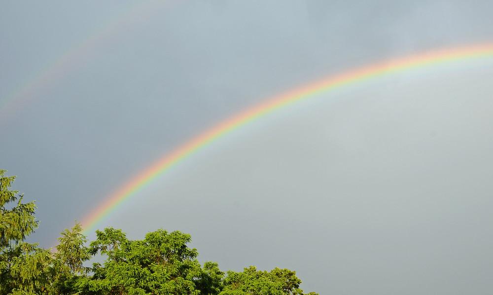 Double rainbow, left arch