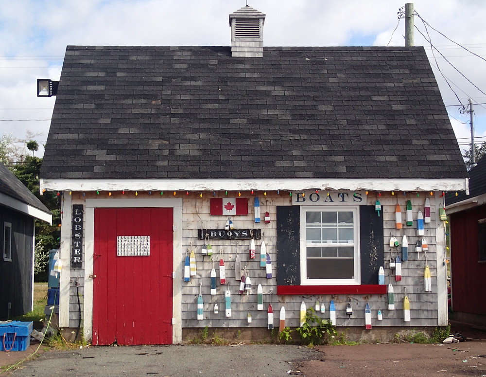 Colorful boathouse, PEI