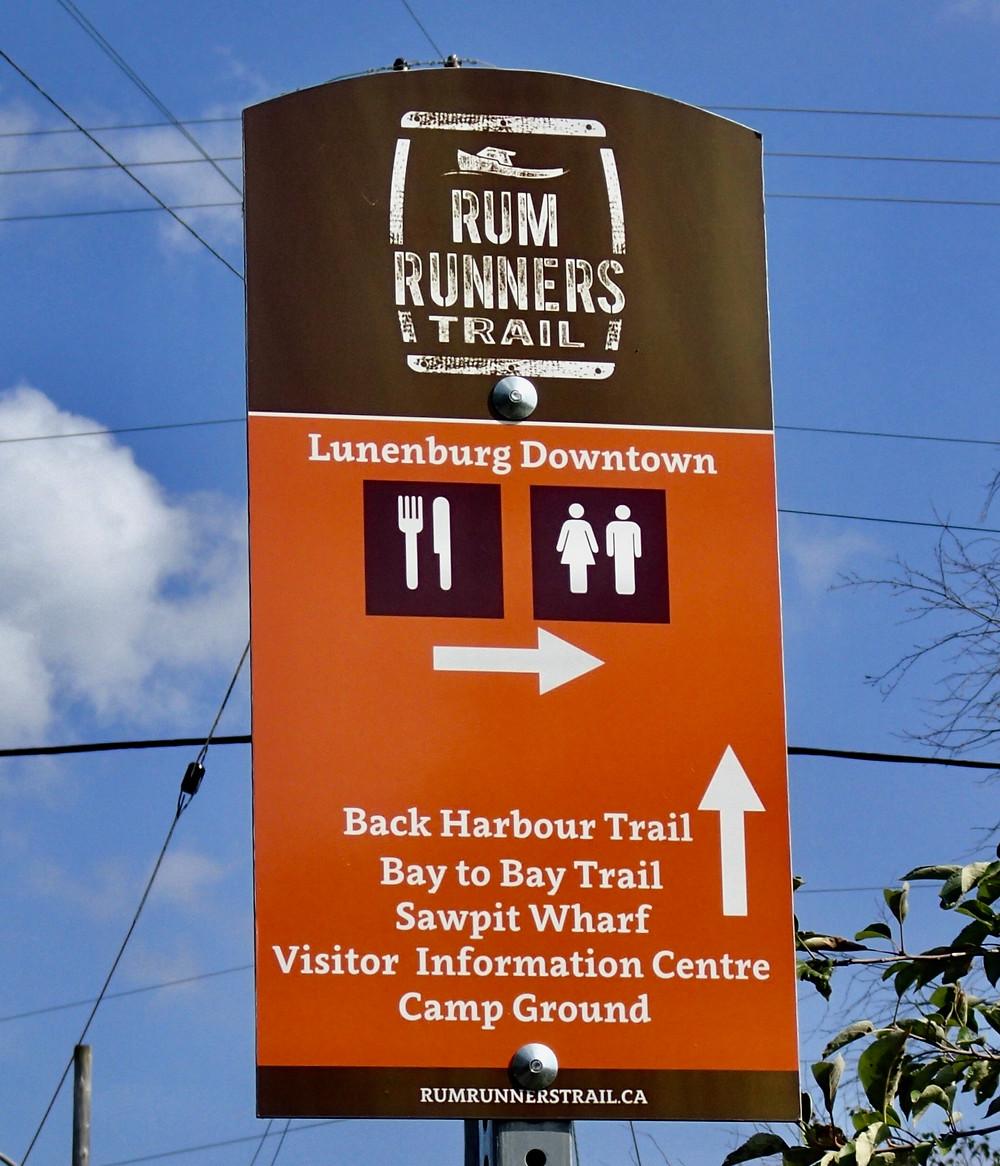 Rum Runner's Trail Sign