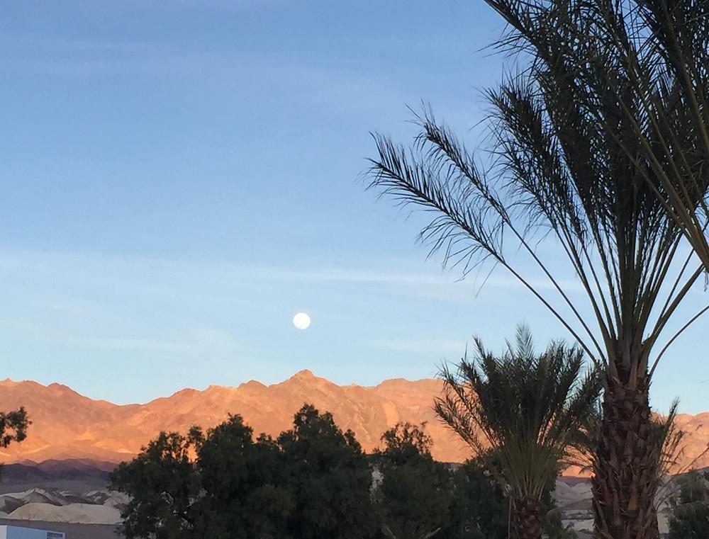 Moonrise at Furnace Creek, Death Valley