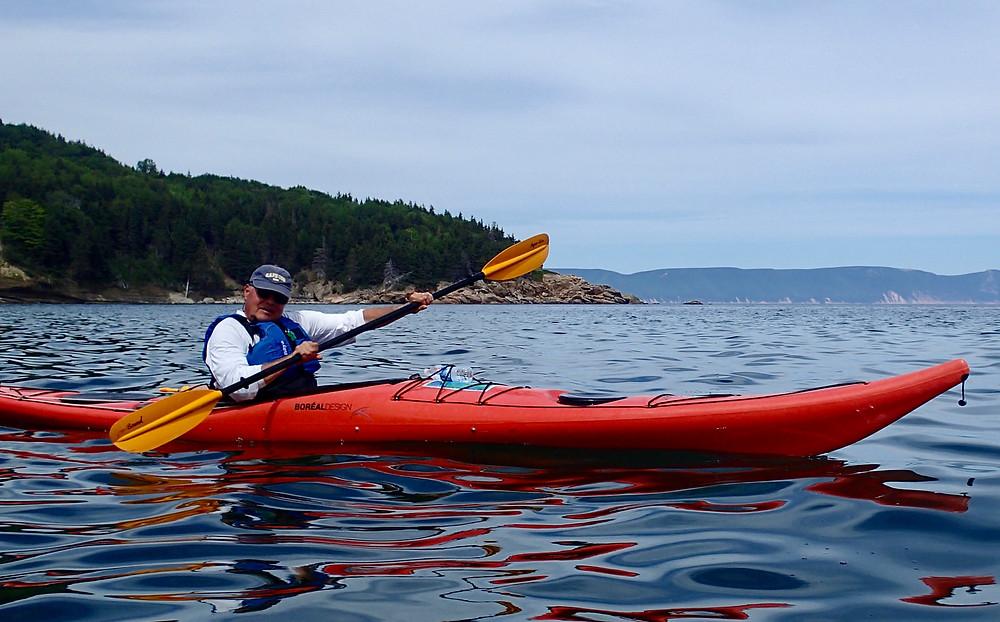 Bruce paddling