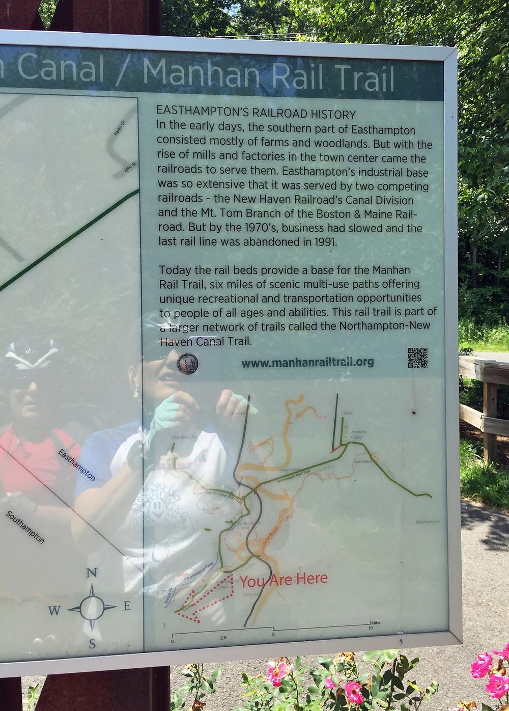 Manhan Rail Trail Interpretive Sign