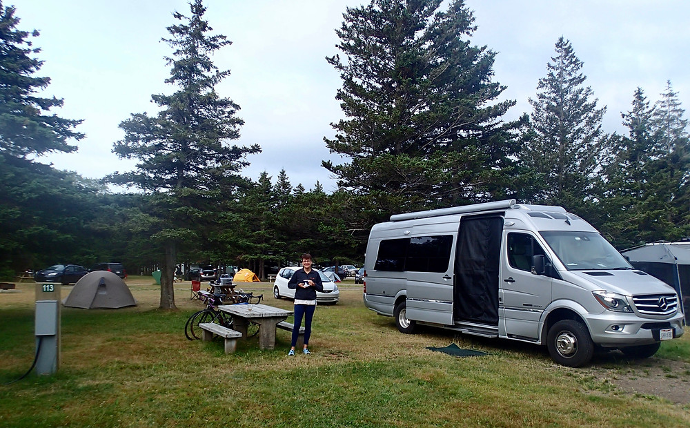 Our campsite at Cape Breton Highlands Natl Park