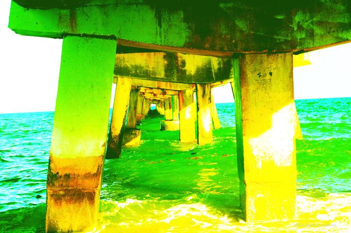 Under the bridge/green