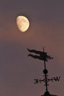 Our weathervane w/Moon