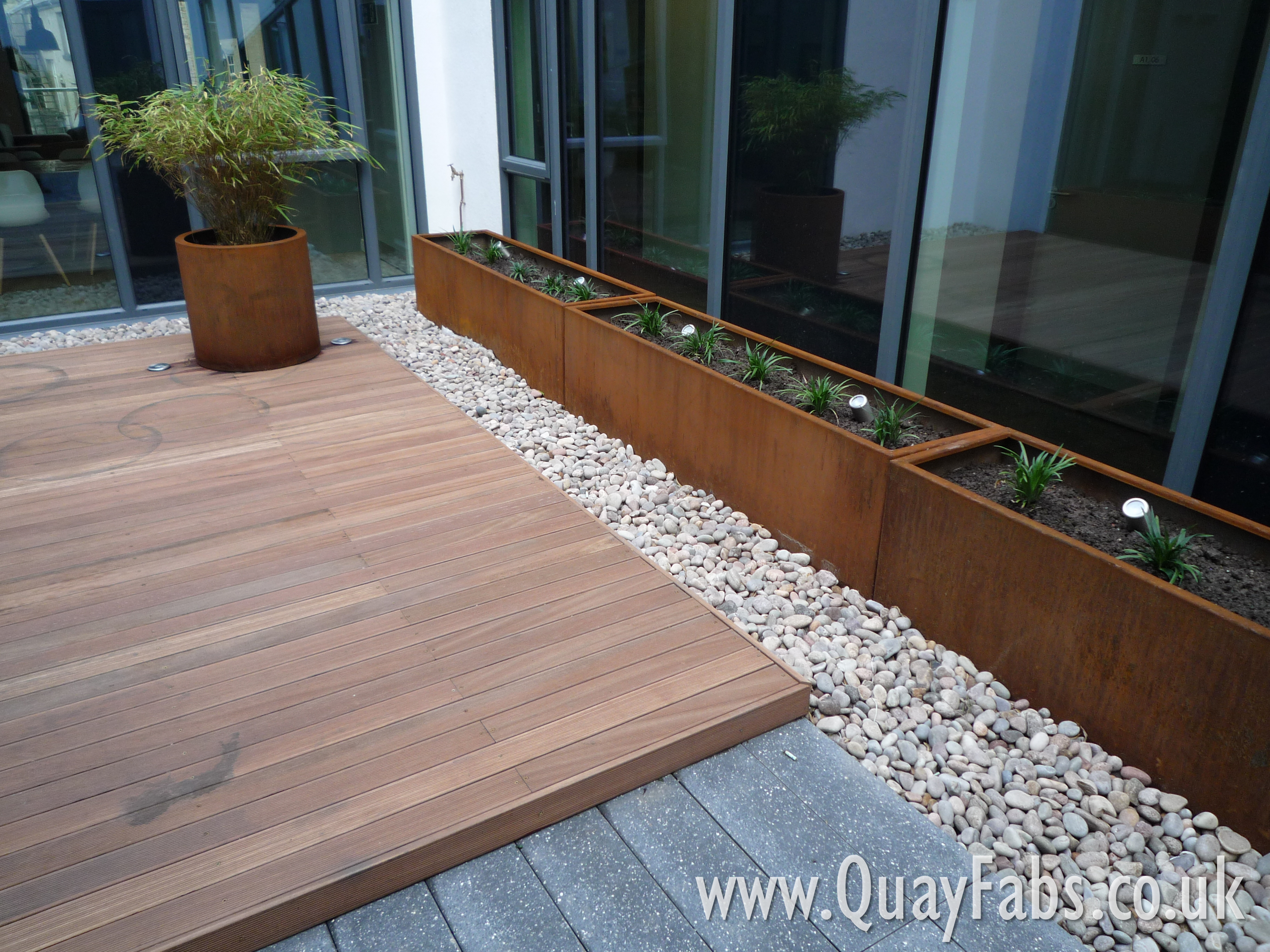 Quay Fabrications (Lancaster) Ltd - CorTen Planters (4)