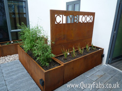 Quay Fabrications (Lancaster) Ltd - CorTen Planters (2)