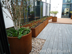 Quay Fabrications (Lancaster) Ltd - CorTen Planters (6)