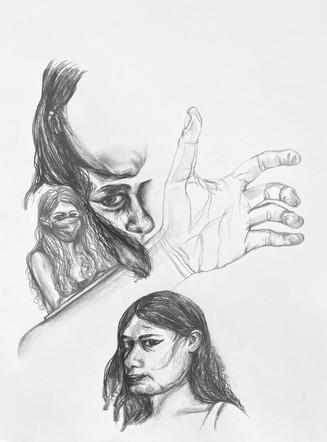 5 part self-portrait