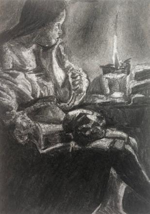 Vine charcoal and eraser master copy