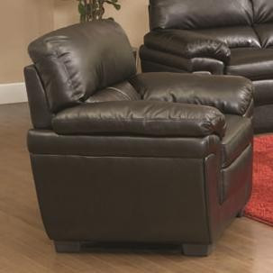 Split Back Cushions And Double Pillow Arms Allow For Ultra Plush Comfort  With A Casual Look. Durable Leather Like Fabric Is Made To ...