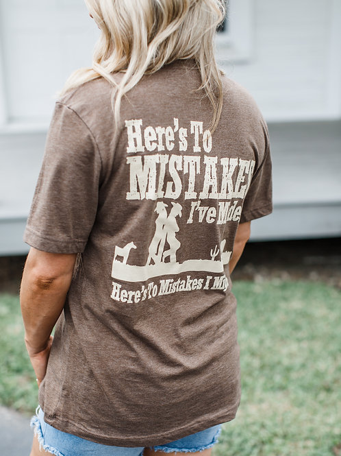 Mistakes T-Shirt Brown