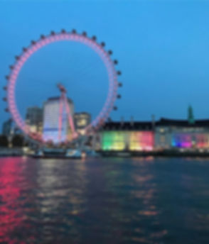 Colourful and delightful London at dusk.