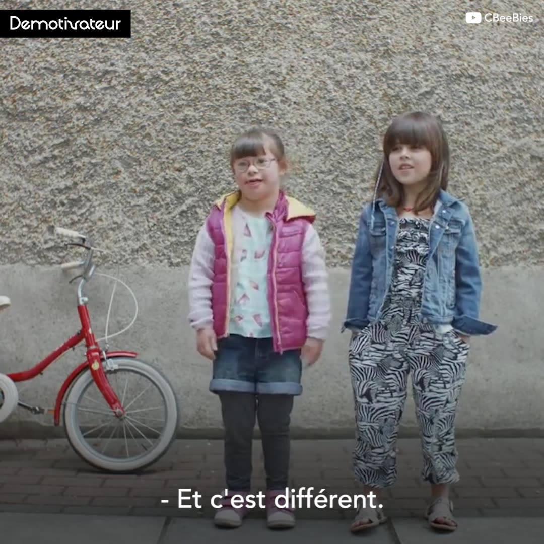 Quand il s'agit de différences, les enfants voient les choses autrement !  😘