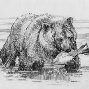 Grizzly with Halibut