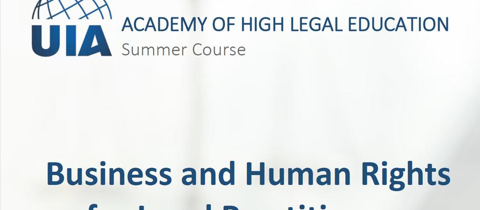Intervention de Me Moyse dans le cours Business and Human Rights in the EU de l'UIA