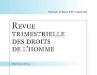 Publication de Me Moyse dans la Revue Trimestrielle des droits de l'homme