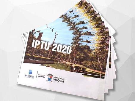 Coronavírus: Prefeitura de Vitória prorroga data de pagamento do IPTU