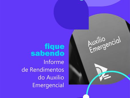 INFORME DE RENDIMENTOS DO AUXILIO EMERGENCIAL