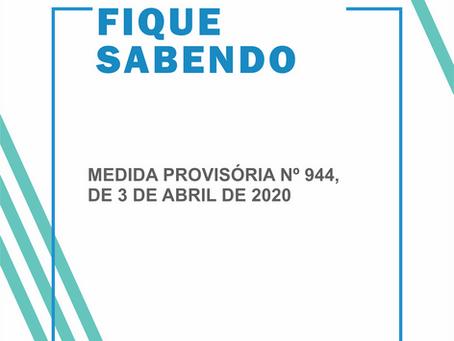 MEDIDA PROVISÓRIA Nº 944, DE 3 DE ABRIL DE 2020