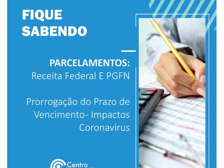 PARCELAMENTOS: Receita Federal E PGFN