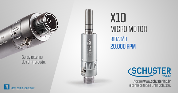 X10 – Micro Motor de Baixa Rotação