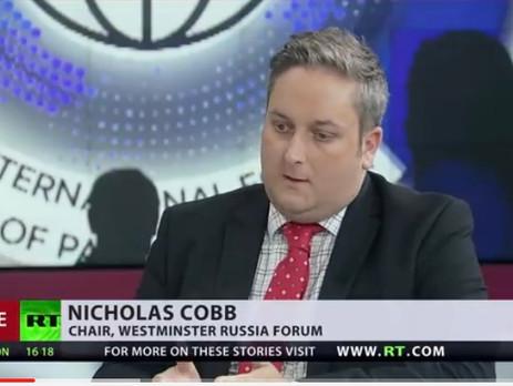 Председатель Westminster Russia Forum дал интервью телеканалу Russia Today