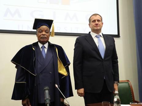 Президент Республики Конго в МГИМО