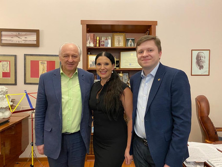 Встреча с президентом Ensemble Productions и ректором Гмпи имени Ипполитова-иванова.