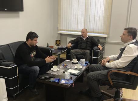 Руководство НГК встретилось с директором НЦБ Интерпола Санкт-Петербурга и Ленинградской области