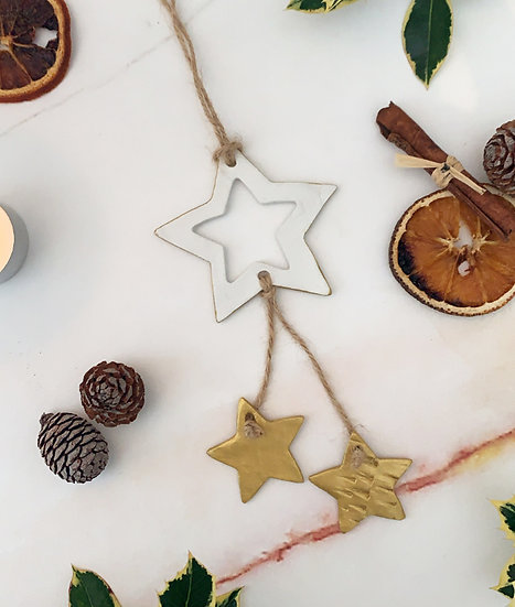 Gold Star Hanger Ornament