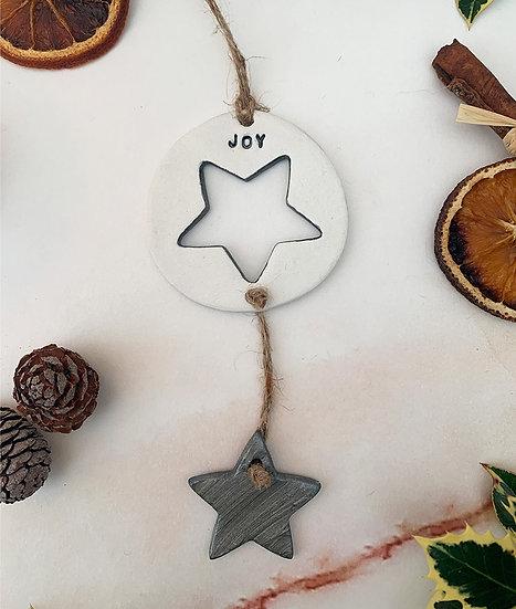 Joy Star hanger ornament