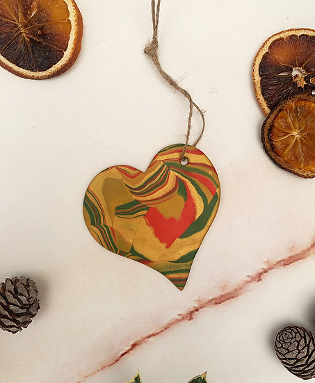 Heart Marble Decoration