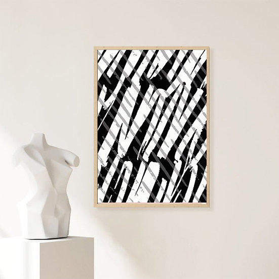 Black/White Abstract Print
