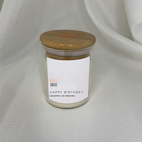 PERSONALISED Crackle Wick Jar Candle