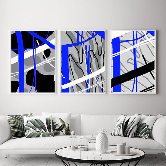 Blue Abstract Print Collection