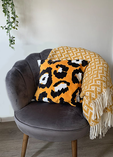 Yellow Soft Velvet Cushion