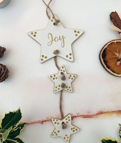 Joy Christmas Hanger Ornament