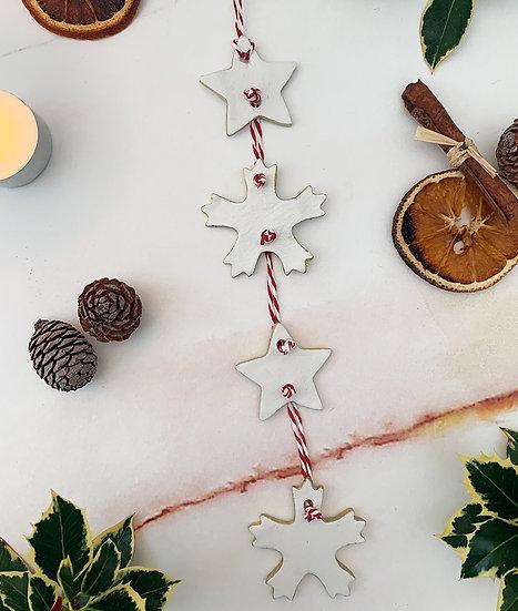 Star Snowflake Hanger Ornament