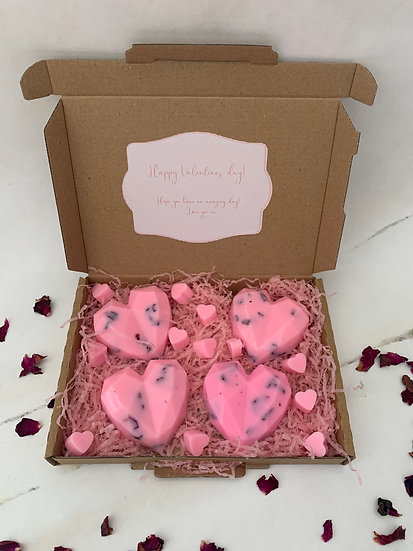 Valentines Wax Box-Wax hearts