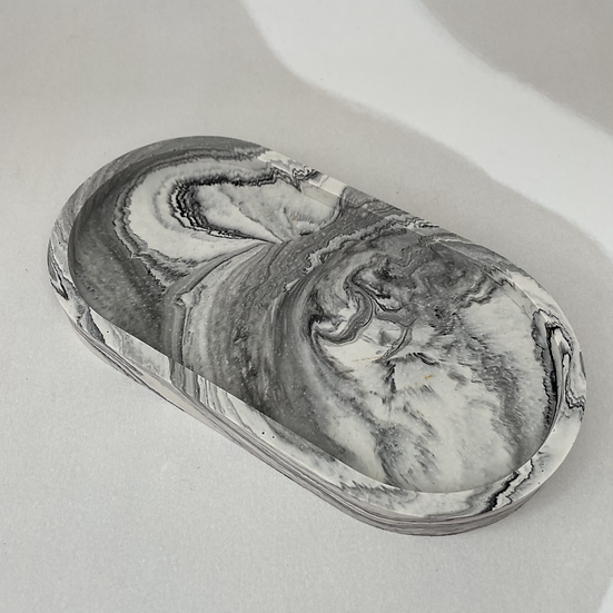 Grey and Black Marble style Trinket Dish