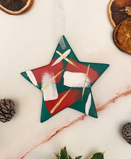 hand Painted Star Ornament
