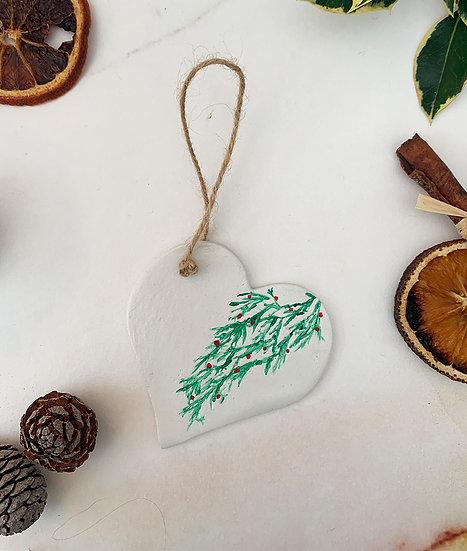 Holy Heart Clay Ornament