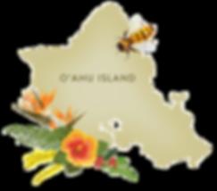 a map of O'ahu Island