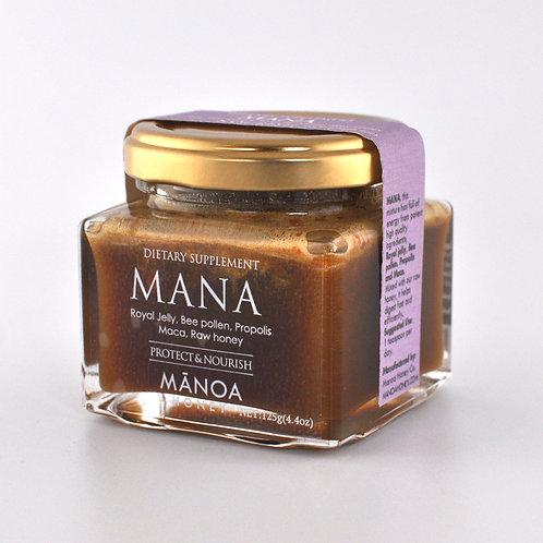 MANA (bee pollen, royal jelly, maca, propolis)