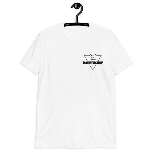 Craig's Barber Shop Short-Sleeve Unisex White T-Shirt