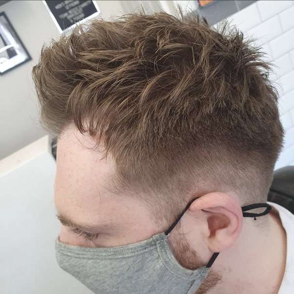 Razor Cut with Grade 1 Back and Sides with Scissors