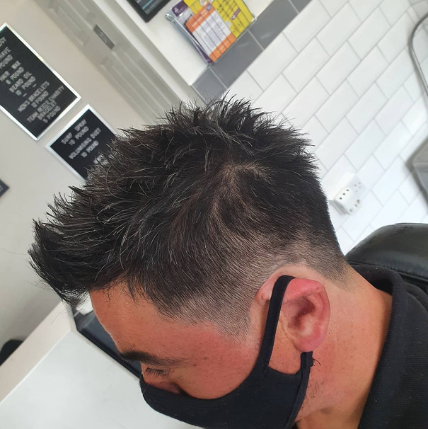 textured razor cut with 1 back and sides
