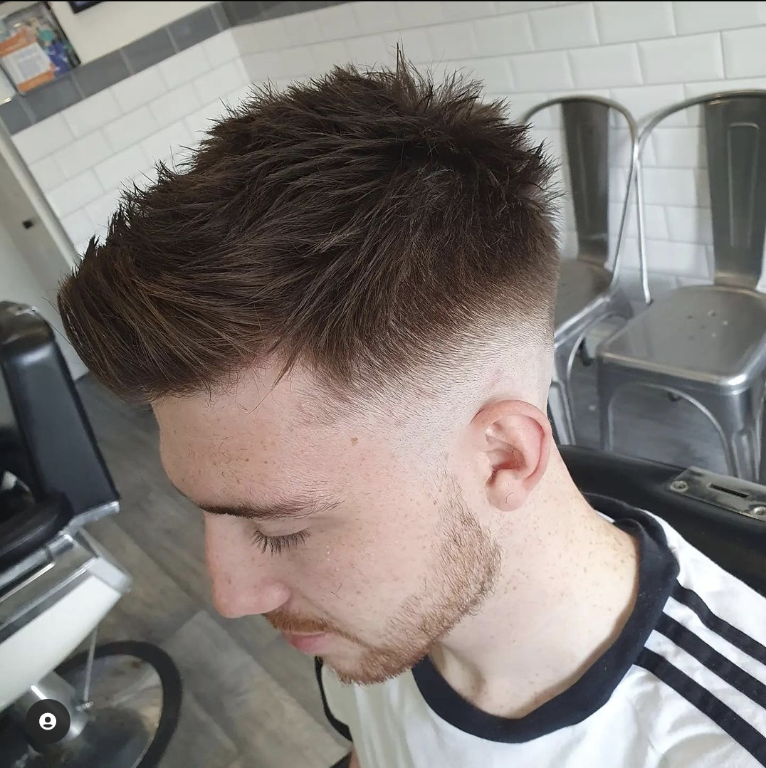 Skin Fade with Textured Quiff