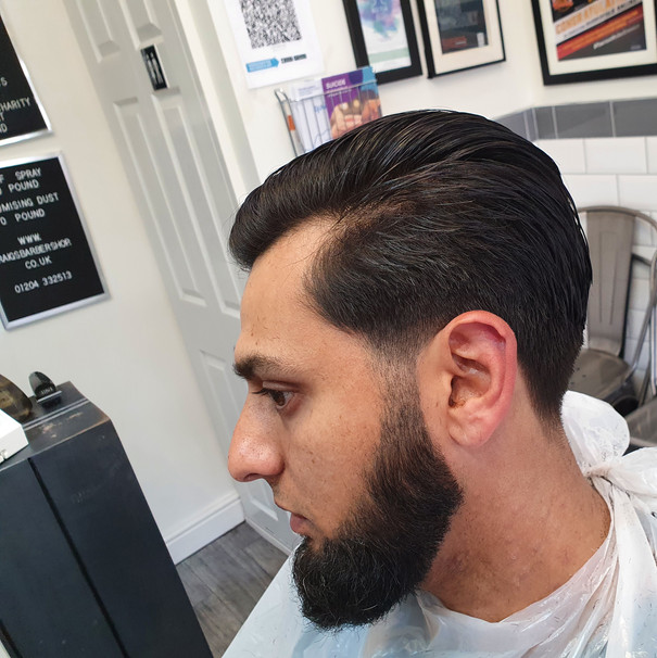 Scissor cut with tapered edges
